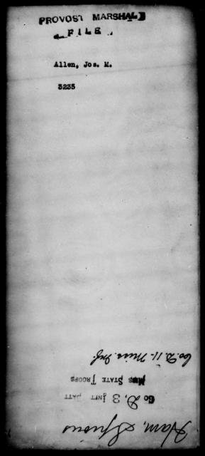 Allen, Jos M - State: [Blank] - Year: [Blank]