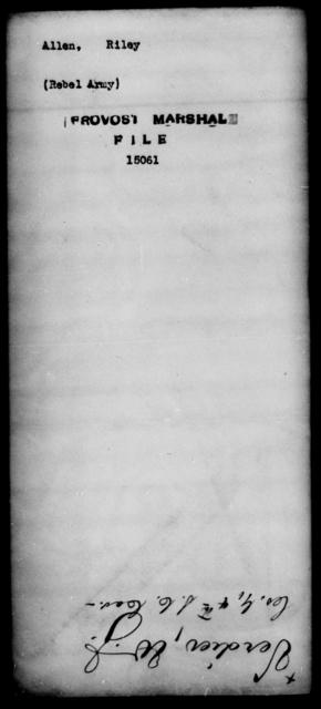 Allen, Riley - State: [Blank] - Year: [Blank]