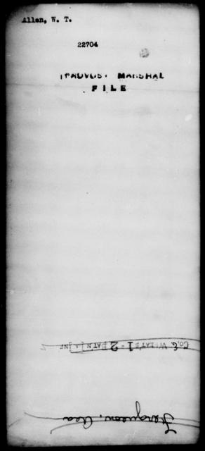 Allen, W T - State: [Blank] - Year: [Blank]