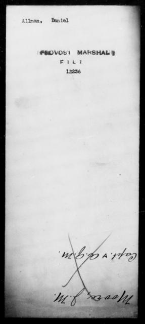 Allman, Daniel - State: [Blank] - Year: [Blank]