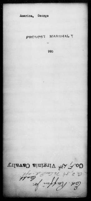 America, George - State: [Blank] - Year: [Blank]