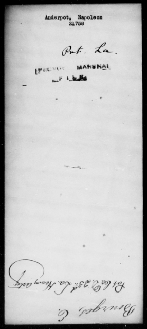 Anderpot, Napoleon - State: Louisiana - Year: [Blank]