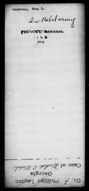 Anderson, Evan G - State: [Blank] - Year: [Blank]