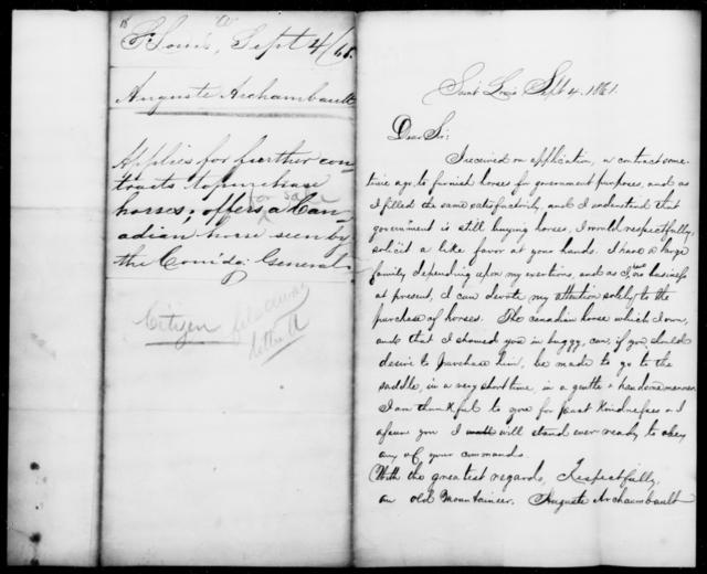 Archambault, Auguste - State: Louisiana - Year: 1861