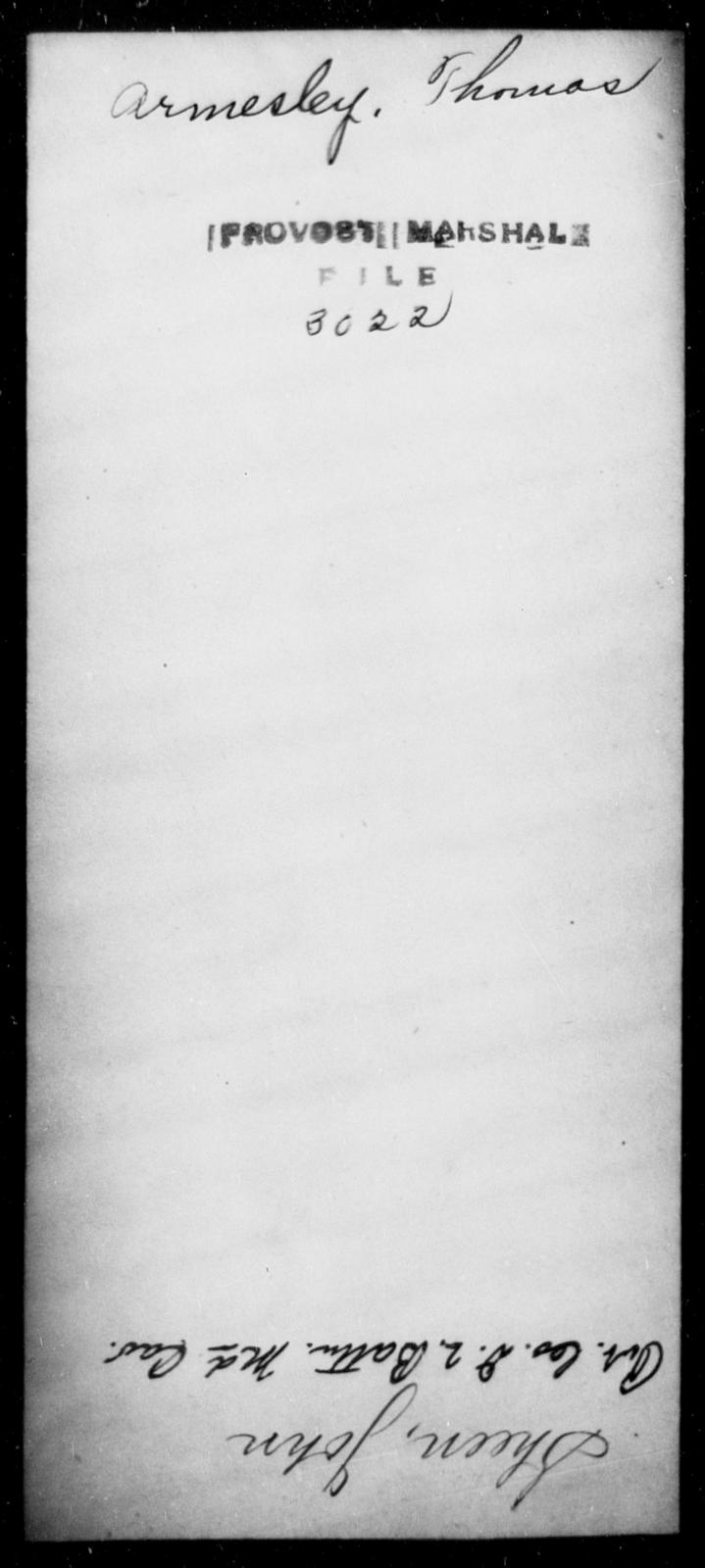 Armesley, Thomas - State: [Blank] - Year: [Blank]