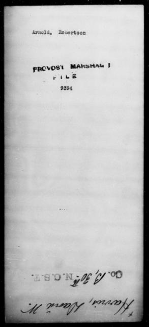 Arnold, Robertson - State: [Blank] - Year: [Blank]