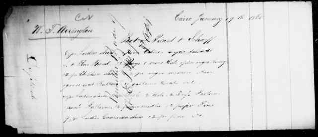 Arrington, W T - State: [Blank] - Year: 1865