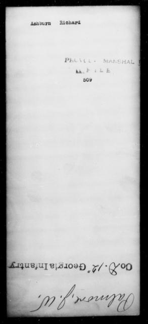 Ashburn, Richard - State: [Blank] - Year: [Blank]