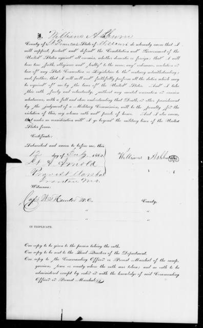 Ashburn, William - State: Missouri - Year: 1862