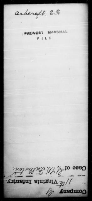 Ashcraft, E F - State: [Blank] - Year: [Blank]