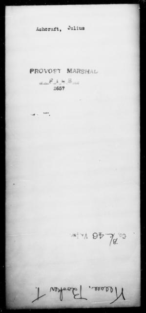 Ashcraft, Julius - State: [Blank] - Year: [Blank]