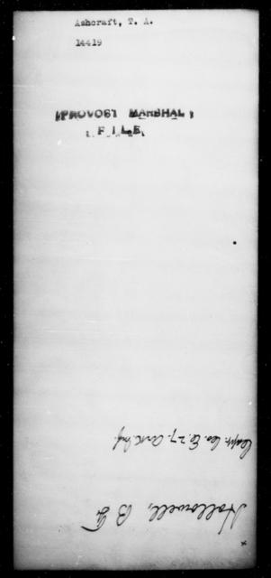 Ashcraft, T A - State: [Blank] - Year: [Blank]