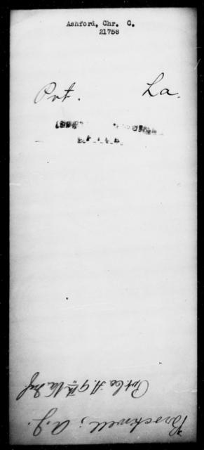 Ashford, Chr C - State: Louisiana - Year: [Blank]
