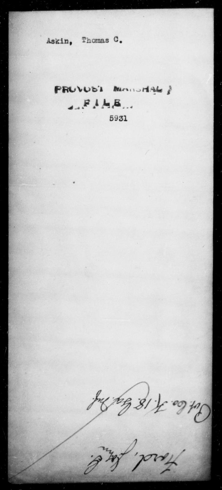 Askin, Thomas C - State: [Blank] - Year: [Blank]