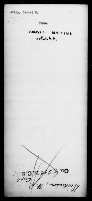 Atley, Samuel D - State: [Blank] - Year: [Blank]