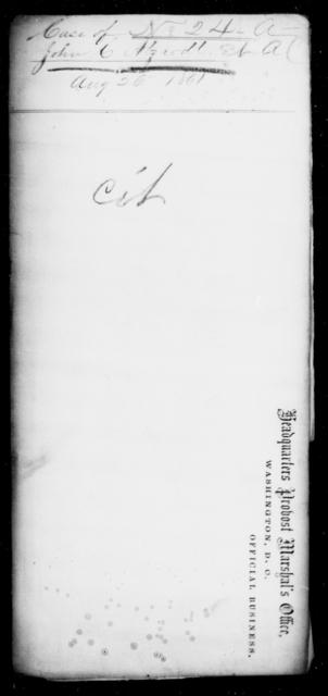 Atzaodt, John C - State: [Blank] - Year: 1861