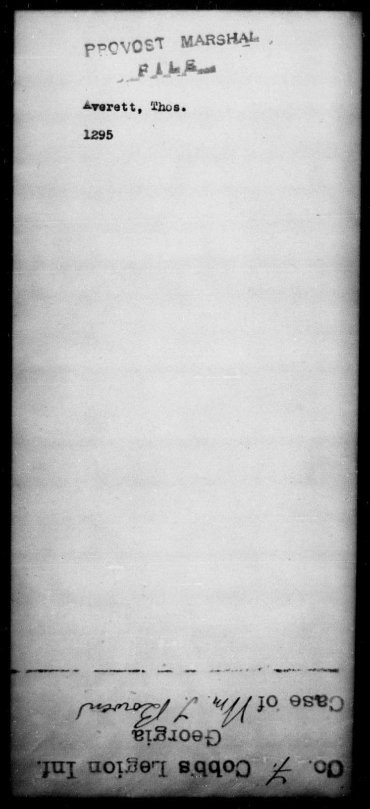 Averett, Thos - State: [Blank] - Year: [Blank]