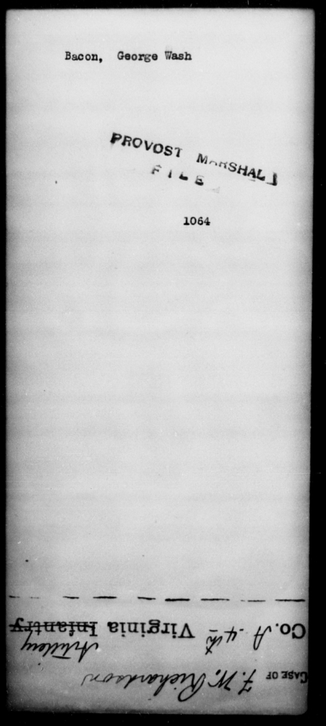 Bacon, George Wash - State: [Blank] - Year: [Blank]