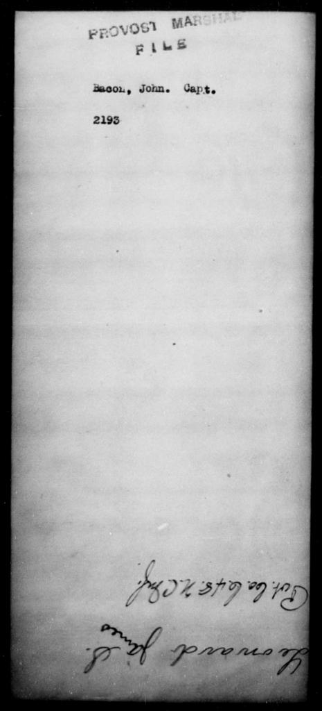 Bacon, John - State: [Blank] - Year: [Blank]