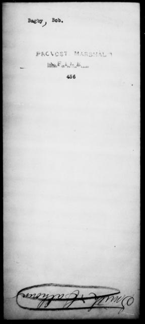Bagby, Bob - State: [Blank] - Year: [Blank]