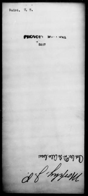 Baird, W T - State: [Blank] - Year: [Blank]