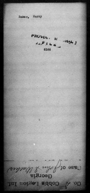 Baker, Harry - State: [Blank] - Year: [Blank]