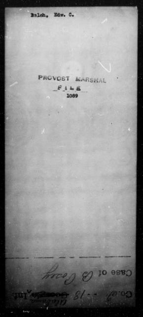 Balch, Edw C - State: [Blank] - Year: [Blank]