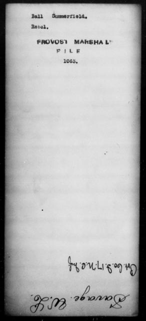 Ball, Summerfield - State: [Blank] - Year: [Blank]