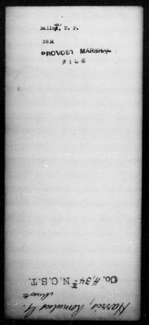 Ballow, N P - State: [Blank] - Year: [Blank]