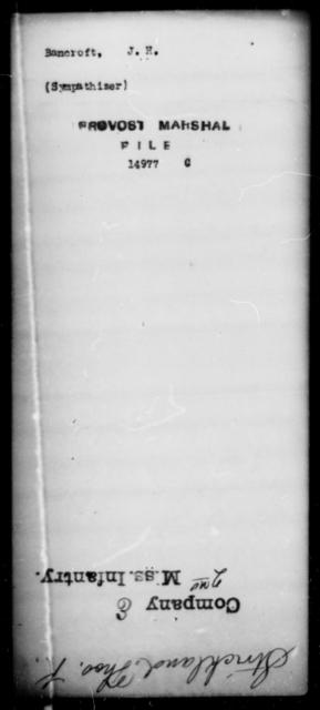 Bancroft, J H - State: [Blank] - Year: [Blank]