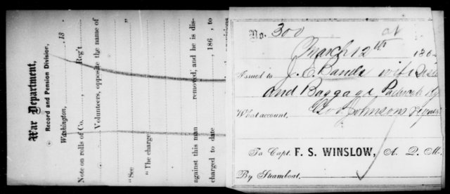 Bands, J E - State: Kentucky - Year: 1864
