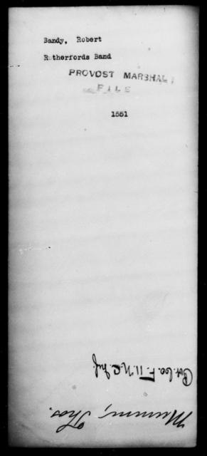 Bandy, Robert - State: [Blank] - Year: [Blank]