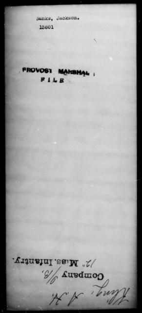 Banks, Jackson - State: [Blank] - Year: [Blank]
