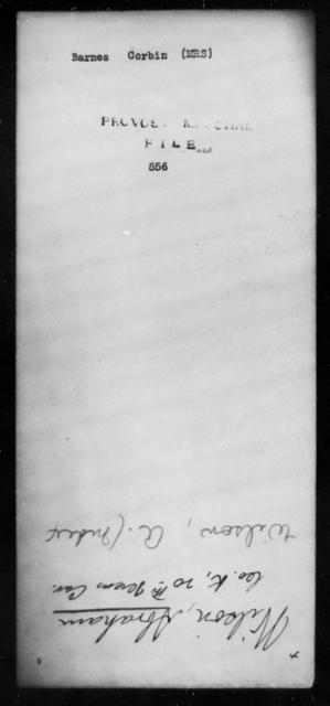 Barnes, Corbin - State: [Blank] - Year: [Blank]
