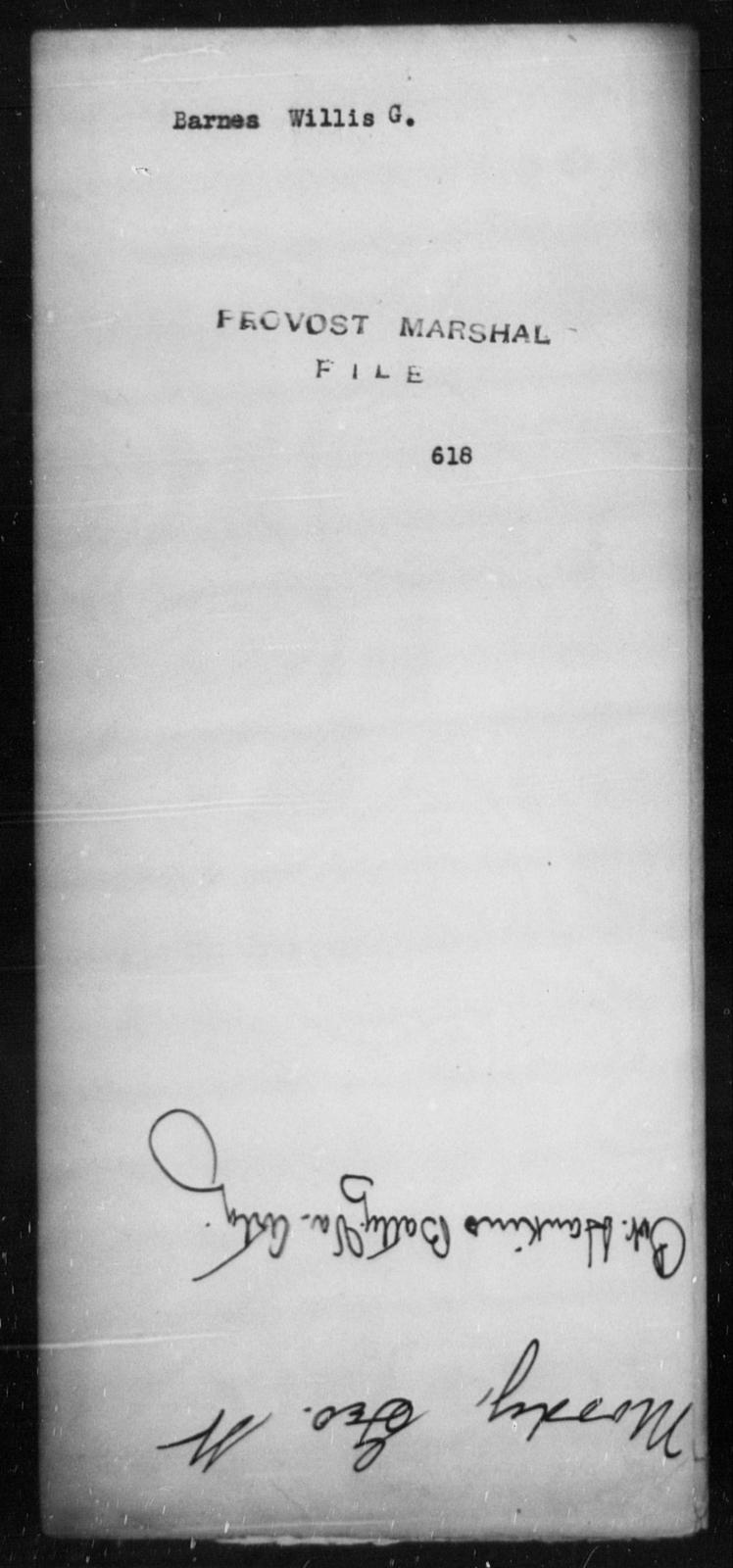 Barnes, Willis G - State: [Blank] - Year: [Blank]