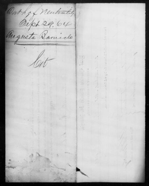 Barnhouse, Augusta - State: Virginia - Year: 1864