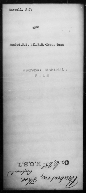 Barrell, J J - State: Tennessee - Year: [Blank]