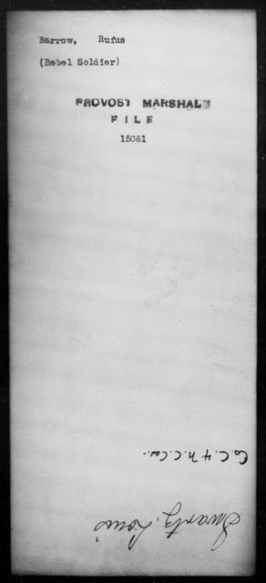Barrow, Rufus - State: [Blank] - Year: [Blank]