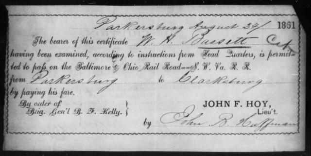 Bassett, W H - State: Ohio - Year: 1861