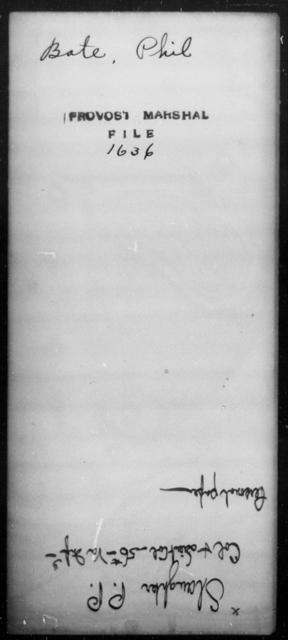 Bate, Phil - State: [Blank] - Year: [Blank]
