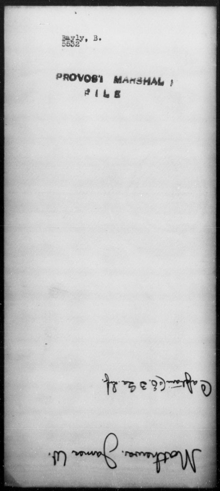 Bayly, B - State: [Blank] - Year: [Blank]