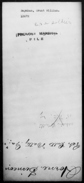 Baynham, Grant William - State: [Blank] - Year: 1862