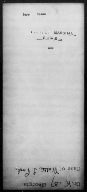 Bays, Isaac - State: [Blank] - Year: [Blank]