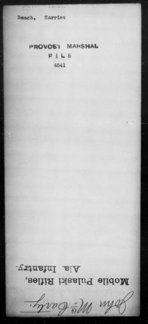 Beach, Harriet - State: [Blank] - Year: [Blank]