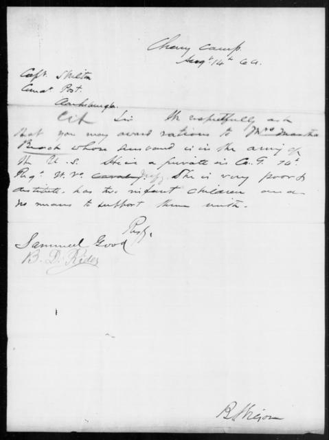 Beach, Martha - State: [Blank] - Year: 1864