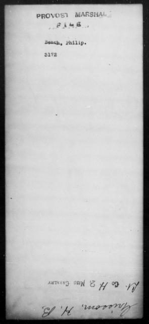 Beach, Philip - State: [Blank] - Year: [Blank]