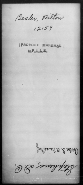 Bealer, Milton - State: [Blank] - Year: [Blank]