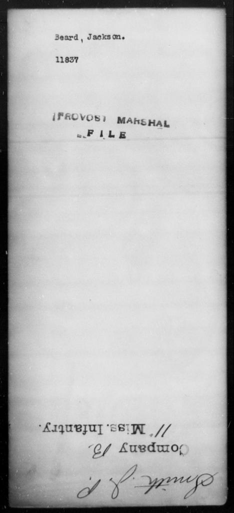 Beard, Jackson - State: [Blank] - Year: [Blank]