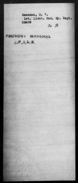 Beasman, W T - State: [Blank] - Year: [Blank]