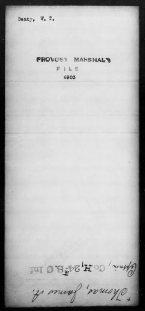 Beaty, W T - State: [Blank] - Year: [Blank]